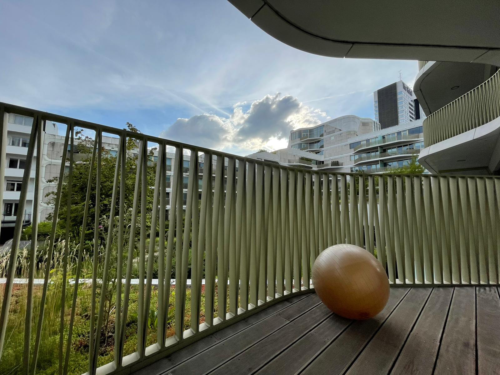 ballon suisse et parquet Airbnb